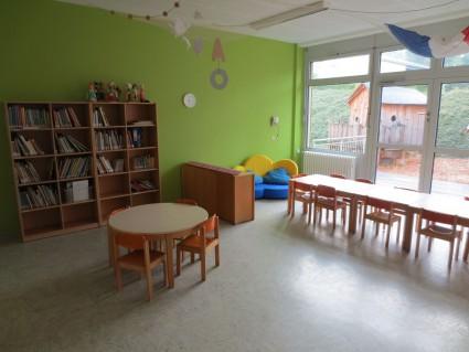 Der Funktionsraum mit Kinderbibliothek