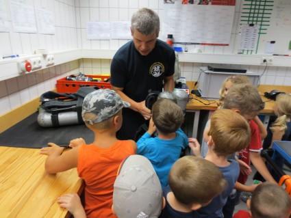 Im Feuerwehrgebäude gab es auch viele spannende Sachen zu besichtigen