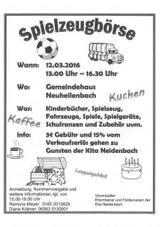 Spielzeugbörse Kita Neidenbach
